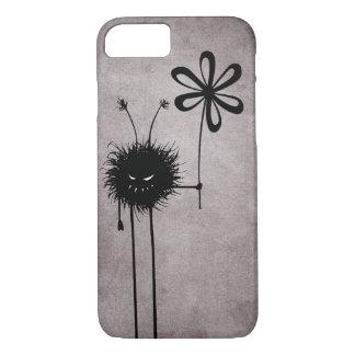 Coque iPhone 7 Cru mauvais noir d'insecte de fleur