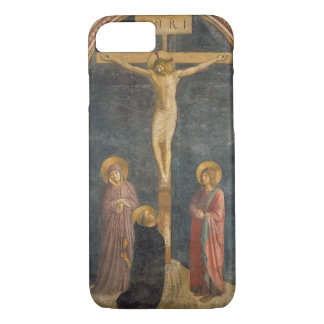 Coque iPhone 7 Crucifixion avec la Vierge, solides solubles. John