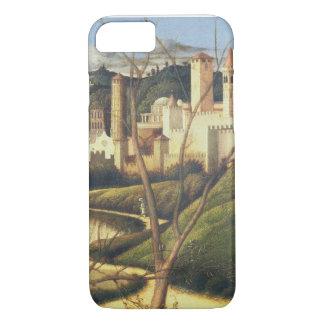 Coque iPhone 7 Crucifixion (détail du paysage d'arrière - plan SH
