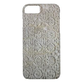 Coque iPhone 7 Dalle bizantine avec la décoration cruciforme,