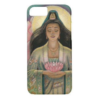 Coque iPhone 7 Déesse de Kuan Yin de cas de l'iPhone 7 de