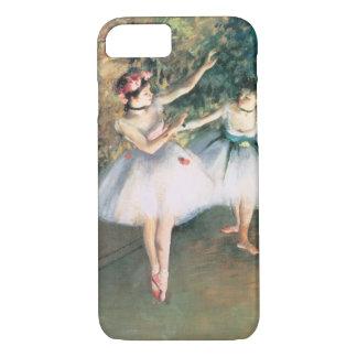 Coque iPhone 7 Deux danseurs sur une étape par Edgar Degas, art