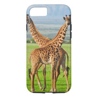 Coque iPhone 7 Deux girafes