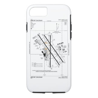 Coque iPhone 7 Diagramme d'aéroport d'Omaha