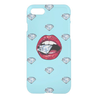 Coque iPhone 7 Diamant chic de lèvres Girly