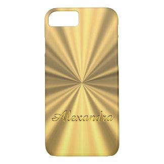 Coque iPhone 7 D'or élégant chic personnalisé