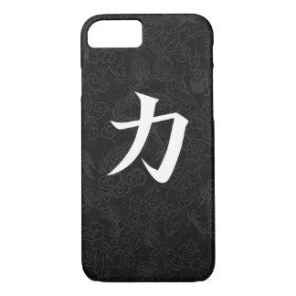 Coque iPhone 7 Dragon japonais de noir de calligraphie de kanji
