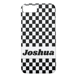 Coque iPhone 7 Drapeau noir et blanc de contrôleur