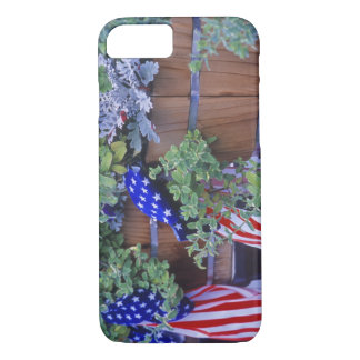 Coque iPhone 7 Drapeaux et fleurs dans Philipsburg Montana