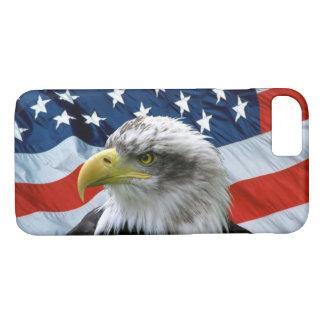 Coque iPhone 7 Eagle chauve et drapeau américain