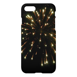 Coque iPhone 7 Éclat de feux d'artifice d'or