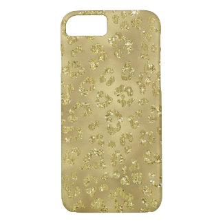 Coque iPhone 7 Empreinte de léopard d'or