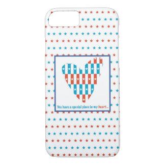 Coque iPhone 7 Endroit patriotique au coeur, encouragement de
