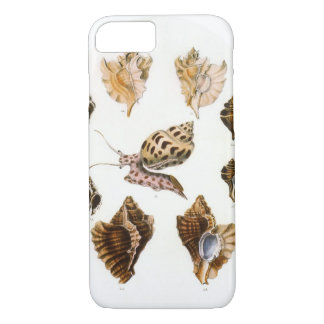 Coque iPhone 7 Escargots vintages et mollusques, organismes