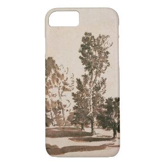 Coque iPhone 7 Étude d'arbre (stylo et encre sur le papier)