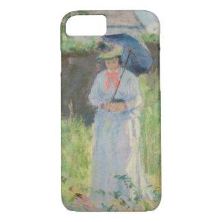 Coque iPhone 7 Femme avec un parasol (en pastel sur le papier)