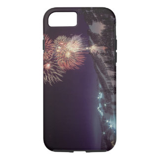 Coque iPhone 7 Feux d'artifice à la grande station de sports de
