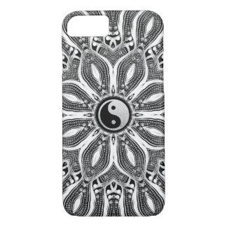 Coque iPhone 7 Fleur de Yin Yang de cas de l'iPhone 6 de la vie
