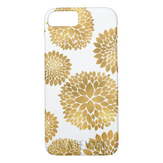 Coque iPhone 7 Fleurs chics d'or