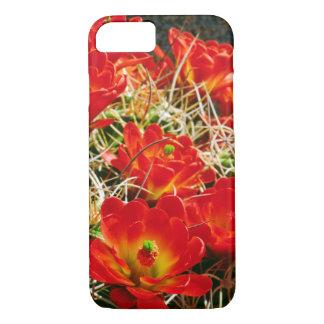 Coque iPhone 7 Fleurs sauvages de cactus de tasse de claret