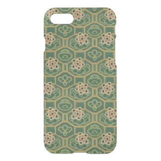 Coque iPhone 7 Floral japonais vert et rose vintage