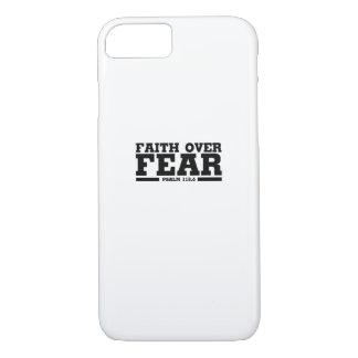Coque iPhone 7 Foi chrétienne de Jésus de vers de bible au-dessus