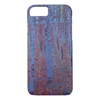 Coque iPhone 7 Forêt de hêtre par Gustav Klimt, art vintage