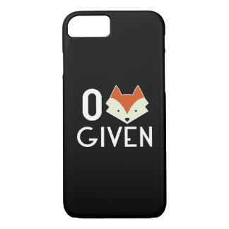 Coque iPhone 7 Fox zéro donné
