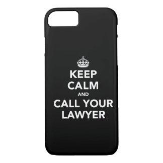 Coque iPhone 7 Gardez le calme et appelez votre avocat