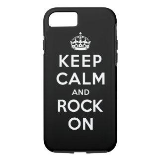 Coque iPhone 7 Gardez le calme et basculez dessus