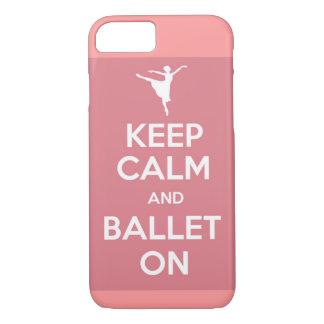 Coque iPhone 7 Gardez le calme et le ballet sur le cas de