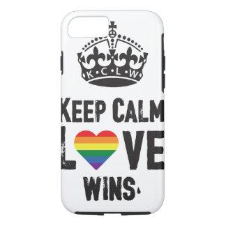 Coque iPhone 7 Gardez les victoires calmes d'amour