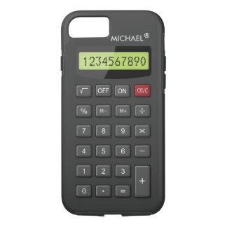 Coque iPhone 7 Geeky personnalisé par motif drôle de calculatrice