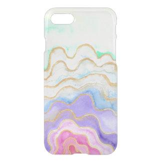 Coque iPhone 7 Geode pour aquarelle multicolore