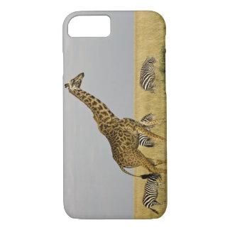 Coque iPhone 7 Girafes de Maasai errant à travers le Maasai Mara
