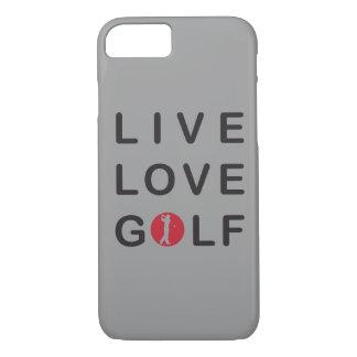 Coque iPhone 7 Golf vivant d'amour je téléphone le cas 6
