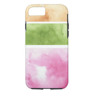 Coque iPhone 7 grand arrière - plan d'aquarelle - peintures 6