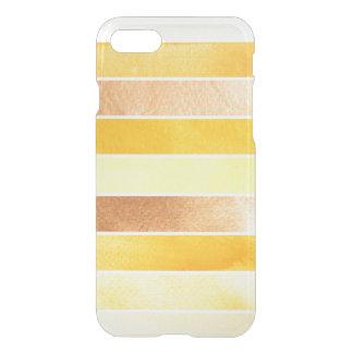 Coque iPhone 7 grand arrière - plan jaune d'aquarelle - aquarelle