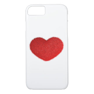 Coque iPhone 7 Grand coeur rouge