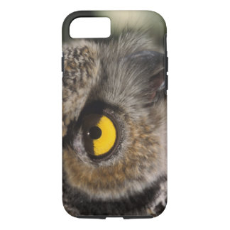 Coque iPhone 7 grand hibou à cornes, varia de Stix, zoo de