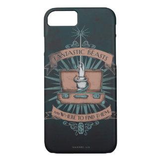 Coque iPhone 7 Graphique de la serviette du triton fantastique de
