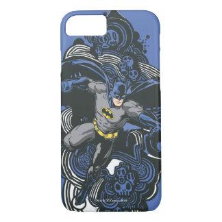 Coque iPhone 7 Griffonnage 2 de crânes/encre de Batman