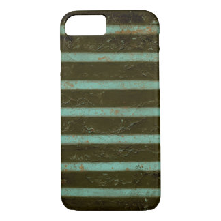 Coque iPhone 7 Grille contemporaine d'air de turquoise
