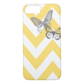 Coque iPhone 7 Gris jaune de l'affaire   de l'iPhone 7 de