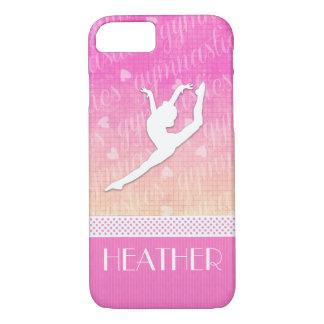 Coque iPhone 7 Gymnastique passionnée de gradient rose avec le