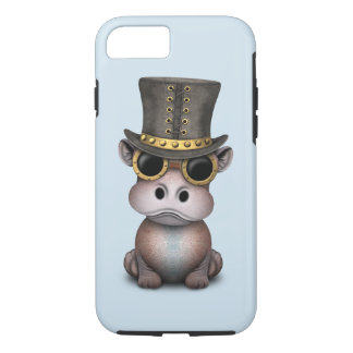 Coque iPhone 7 Hippopotame de bébé de Steampunk