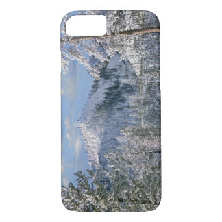 Coque iPhone 7 Hiver en parc national de Yellowstone, Wyoming