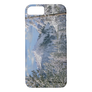 Coque iPhone 7 Hiver en parc national de Yellowstone, Wyoming