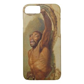 Coque iPhone 7 Homme luttant avec un constricteur de boa, étude