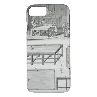Coque iPhone 7 Hommes jouant des billards, du 'DES d'Encyclopedie